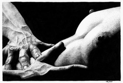 Print Handen Borsten