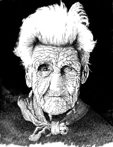 Oude vrouw Een