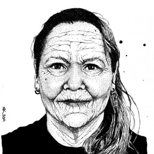 Zelfportret als Oude Vrouw